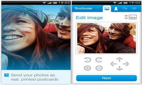 Touchnote скриншот