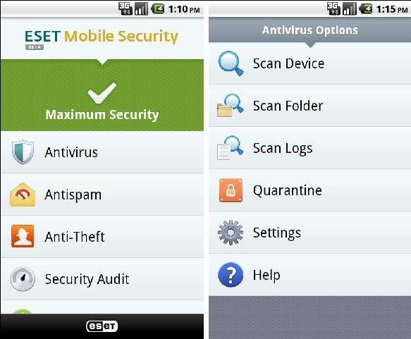 Eset Mobile Security на андроид