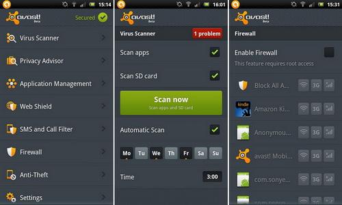 Mobile Security & Antivirus управление