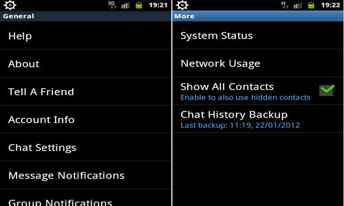 WhatsApp Messenger Android настройки