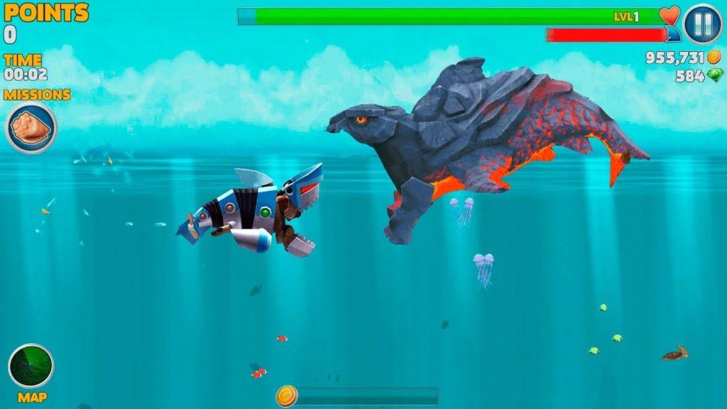 скачать взломанную игру акула