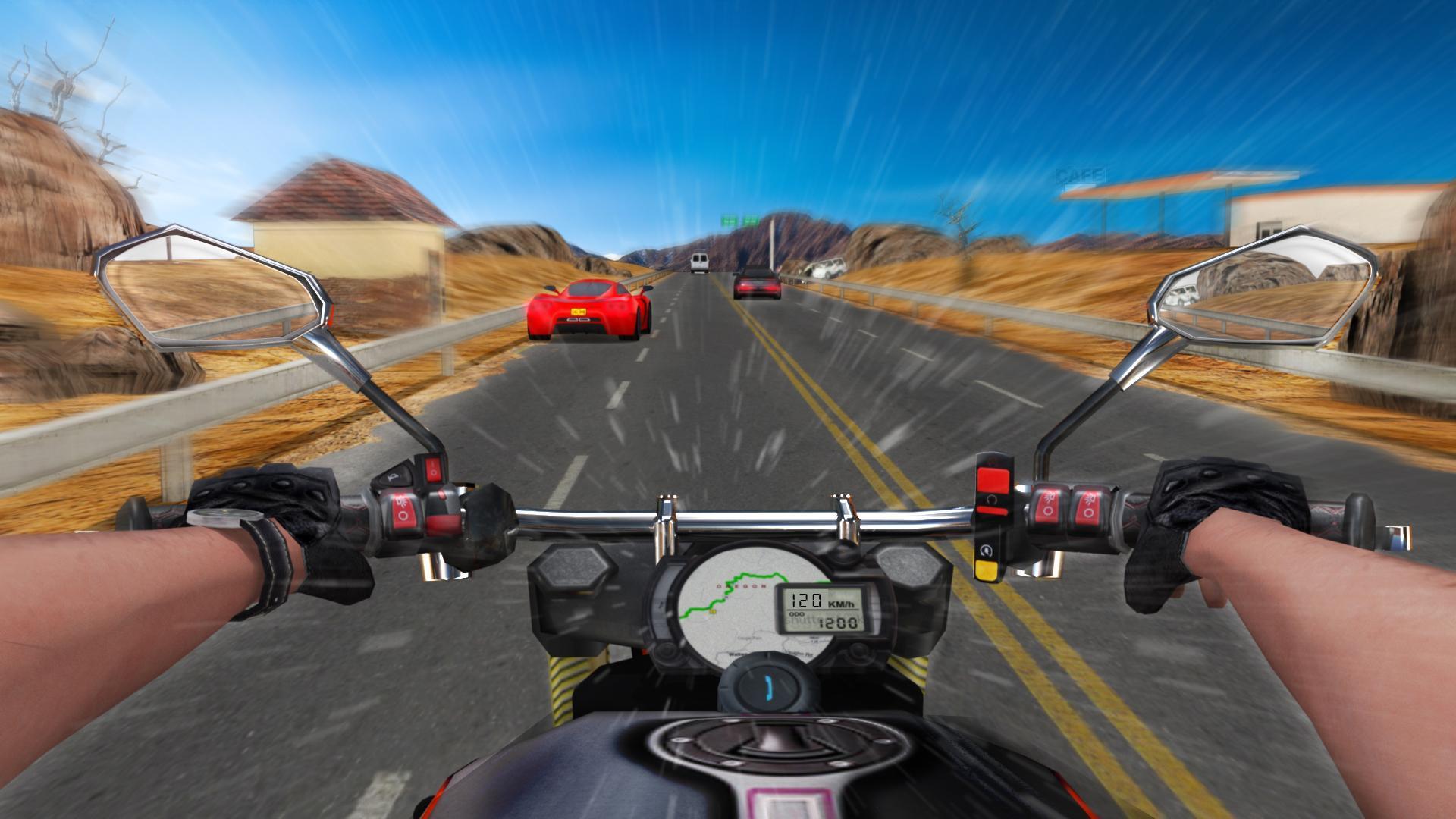 скачать взломанную игру traffic rider