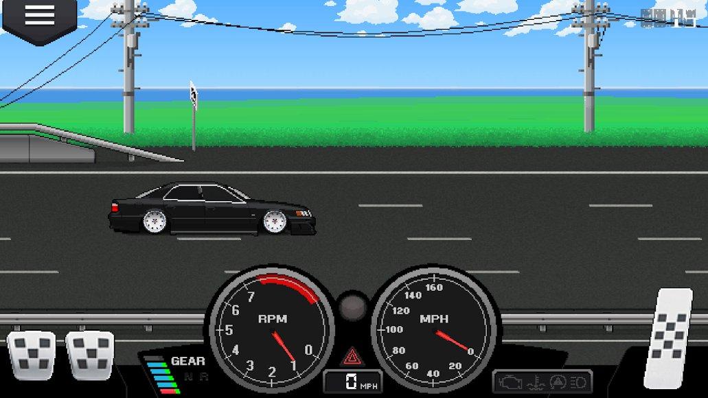 скачать взломанный pixel car racer