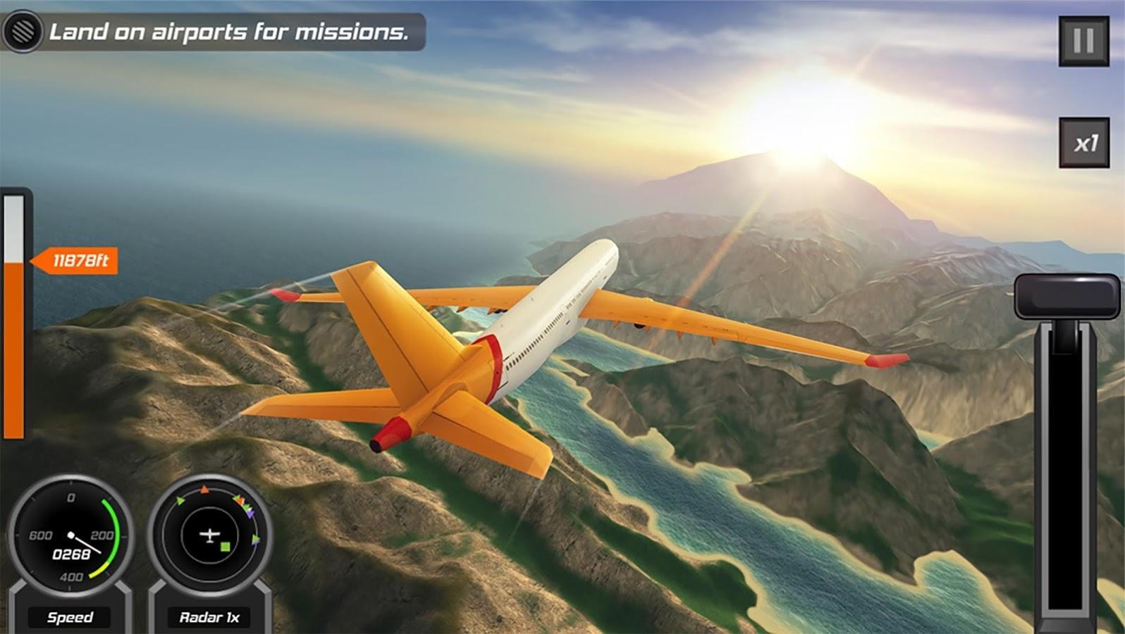скачать взломанный flight pilot