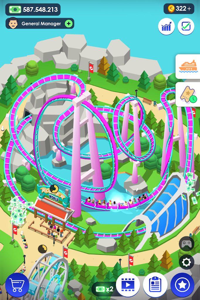 theme park мод много денег