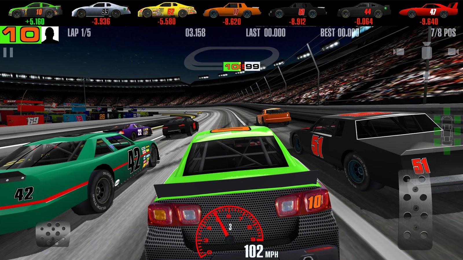 скачать взломанную игру stock car racing