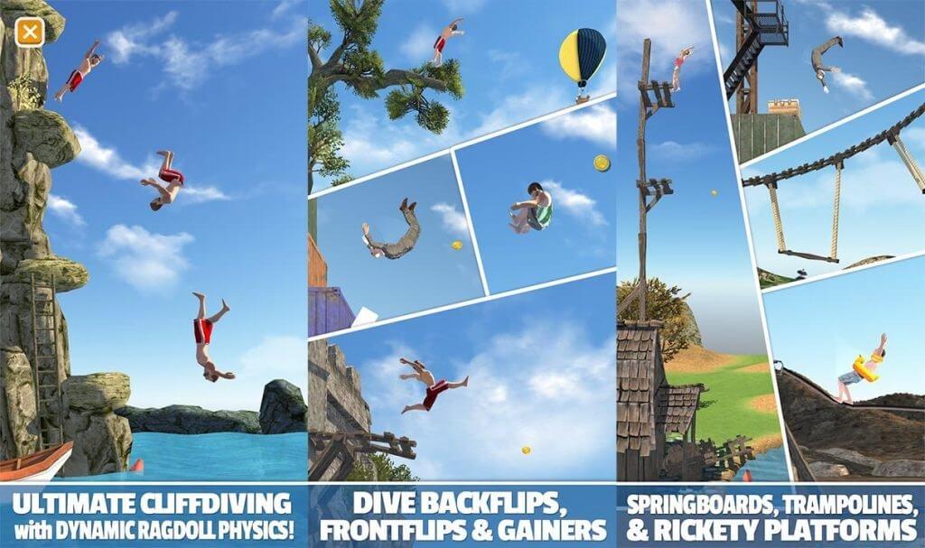 скачать взломанный flip diving