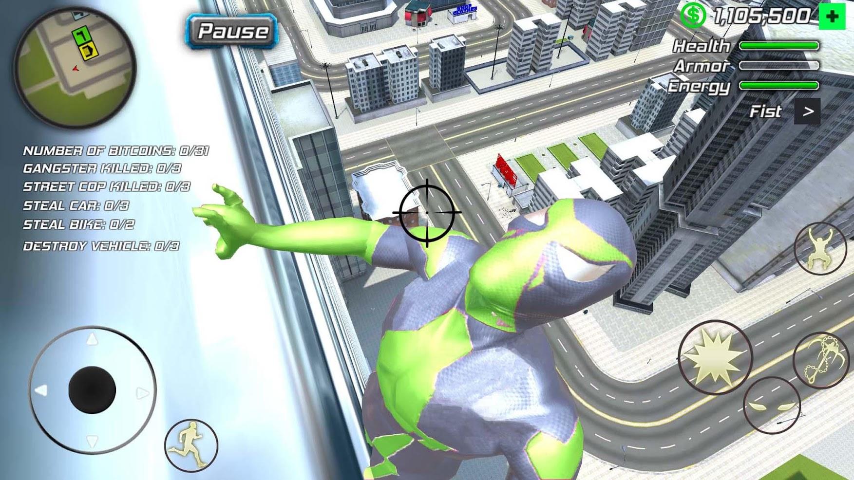 rope frog ninja hero мод много денег