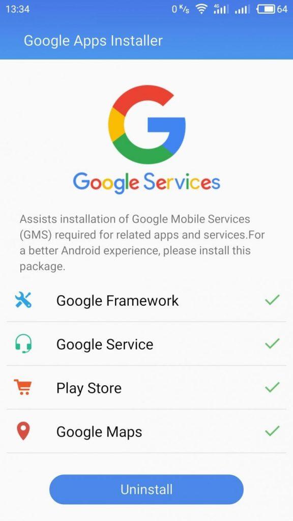 скачать google apps installer