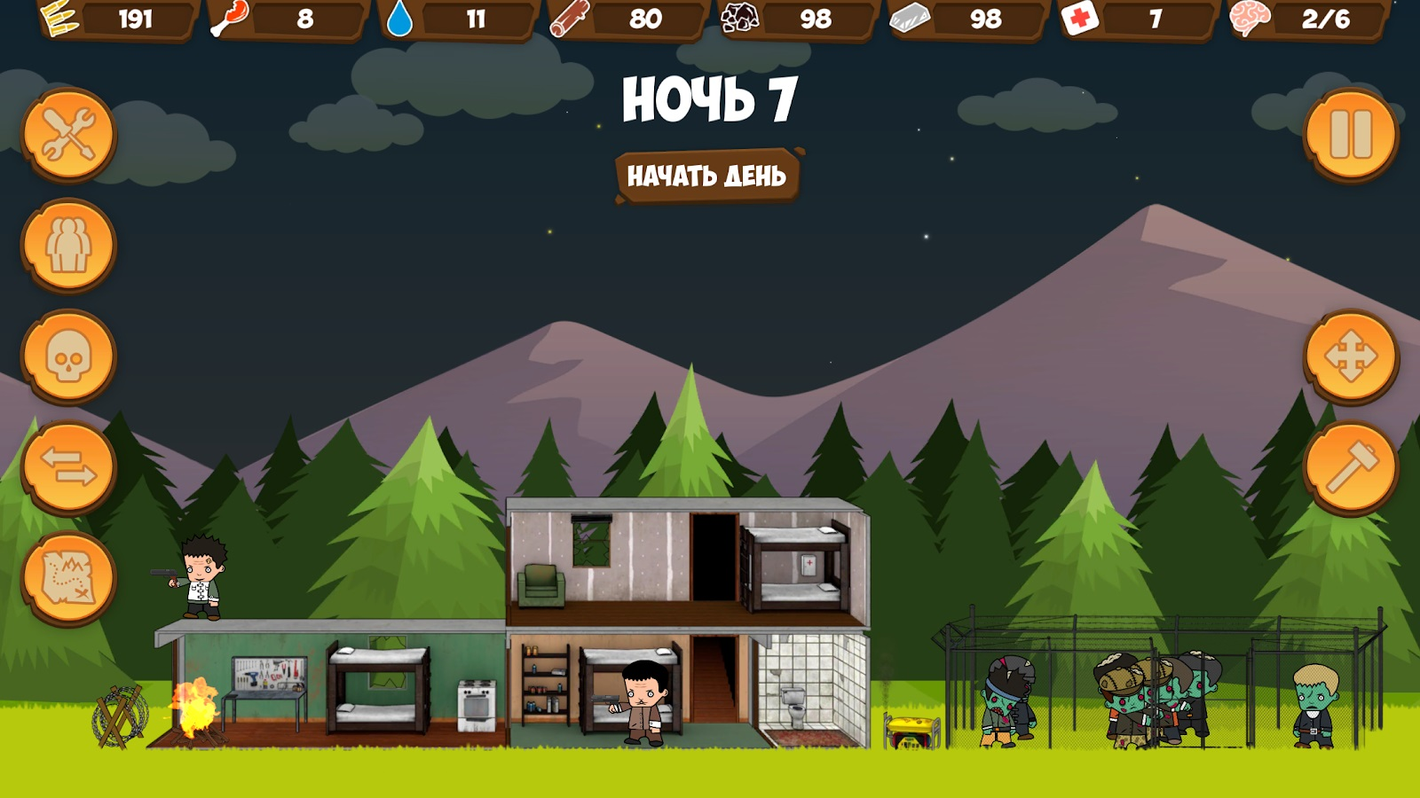 zombie forest hd мод много ресурсов