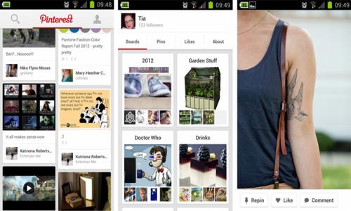 Pinterest скриншот