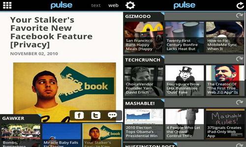 Pulse News Reader управление
