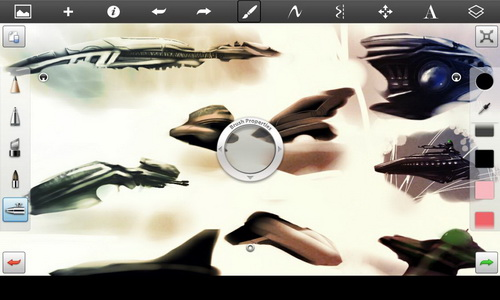 SketchBook Pro for Tablet управление