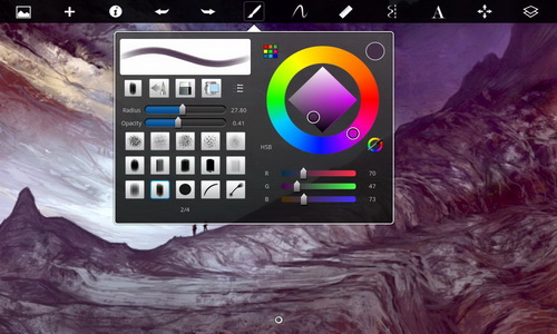 SketchBook Pro for Tablet интерфейс