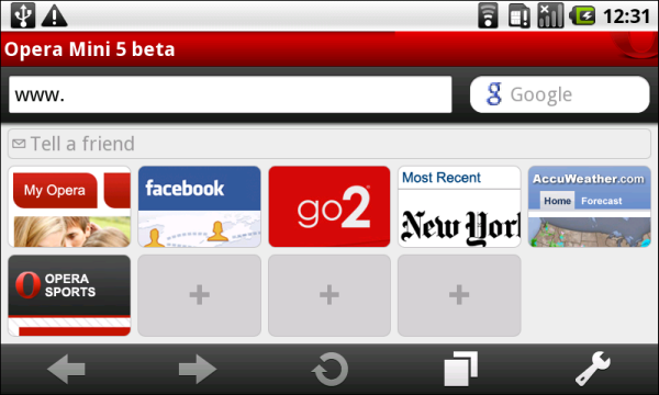 Opera Mini Android 3