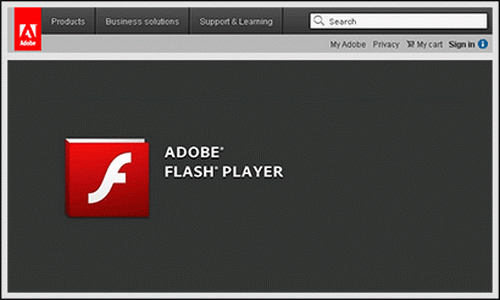 Adobe Flash Player Android интерфейс