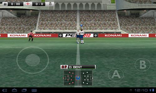 PES 2012 Pro Evolution Soccer Android управление