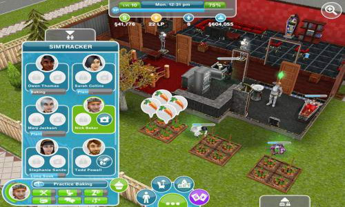 The Sims FreePlay Android интерфейс