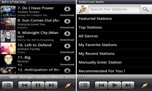 Winamp Android скриншот