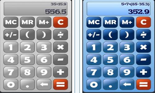 Калькулятор Android интерфейс